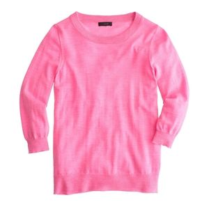 J. Crew Pink Merino Wool Tippi Sweater Large